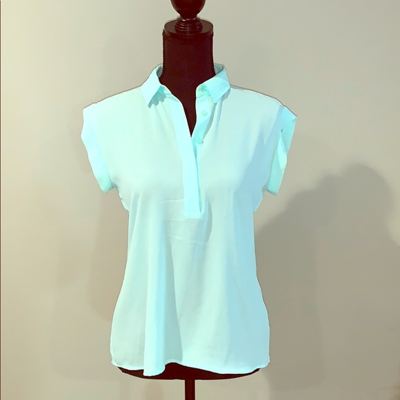 The Limited Tops - Teal 3 button  top